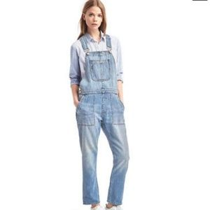 GAP relaxed denim overall pants